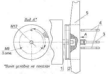 Схема крепления воздушного винта к маховику двигателя