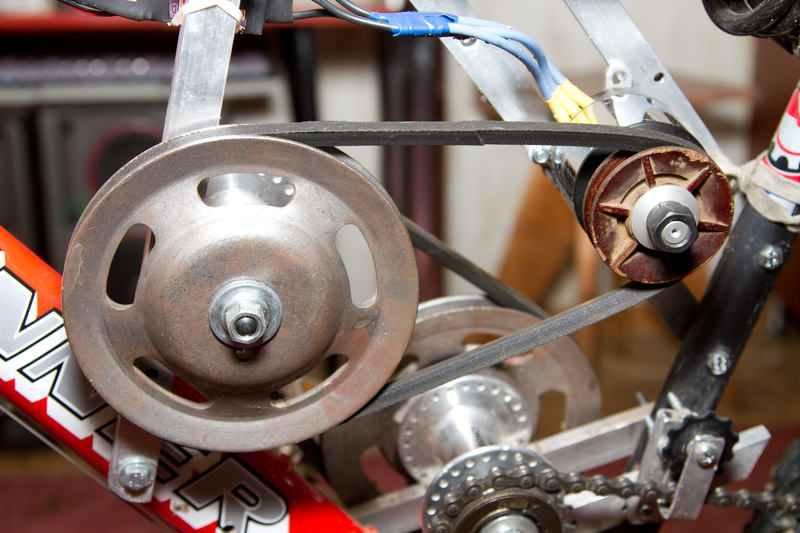 Велосипед на электродвигатели своими руками