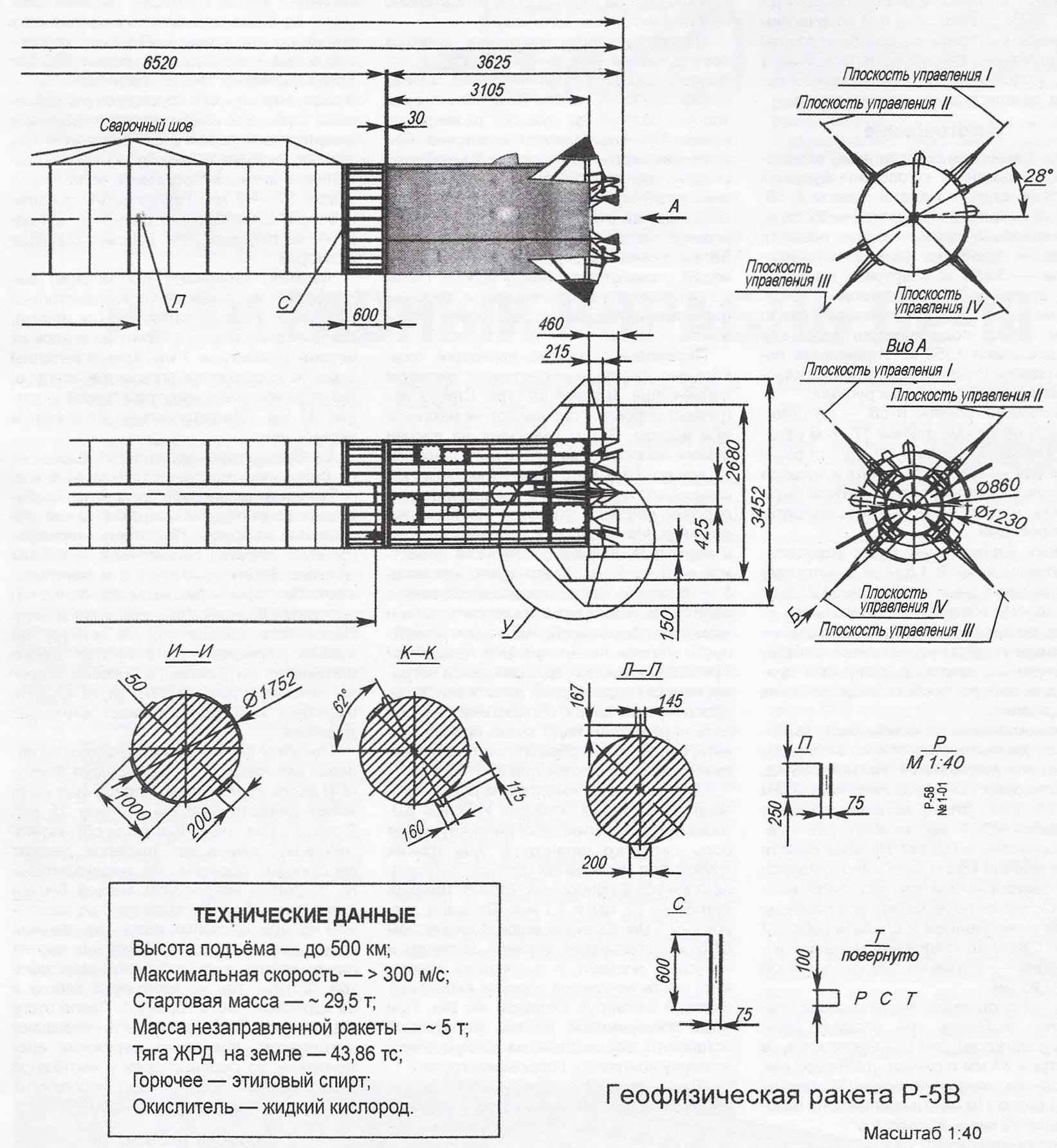 Геофизическая ракета Р-5В