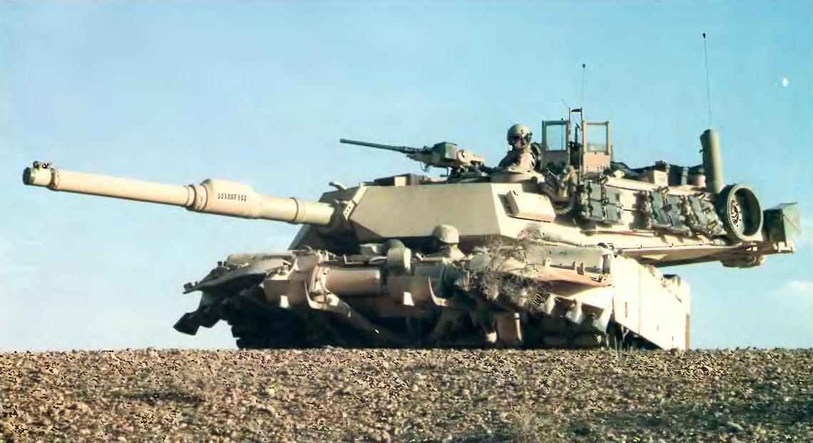 Танк М1А1 на позиции в Ираке.