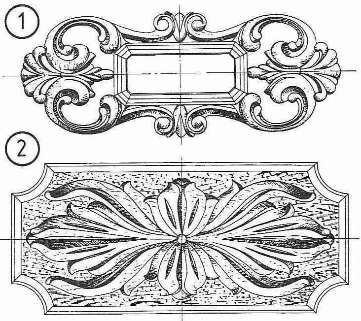 Декорирование мебели рельефной резьбой