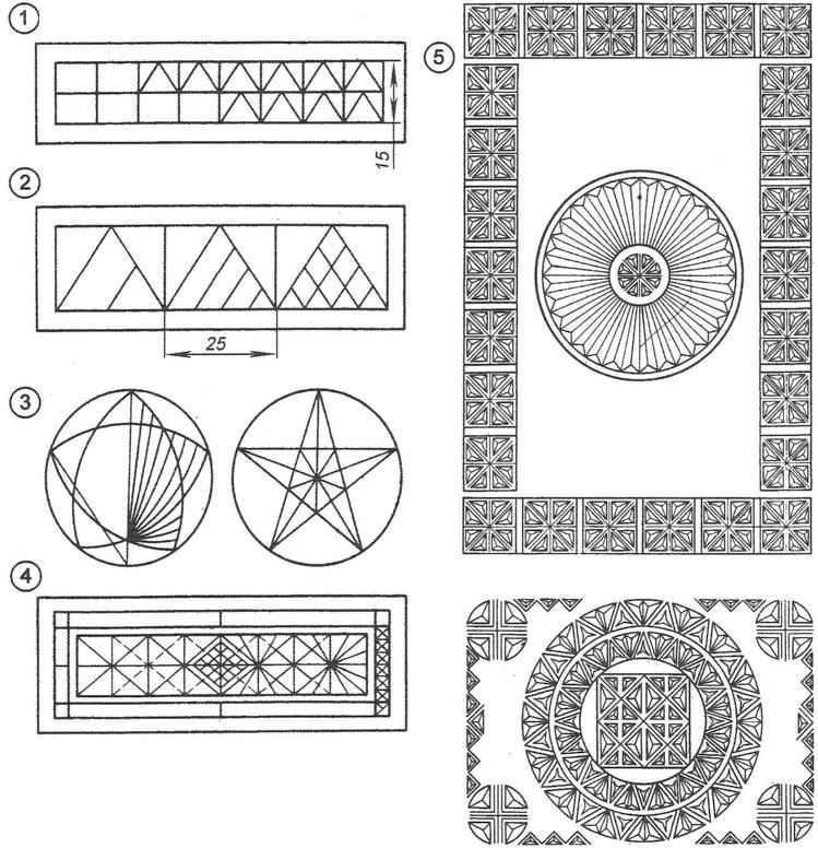 Разметка орнамента (простейшие варианты)
