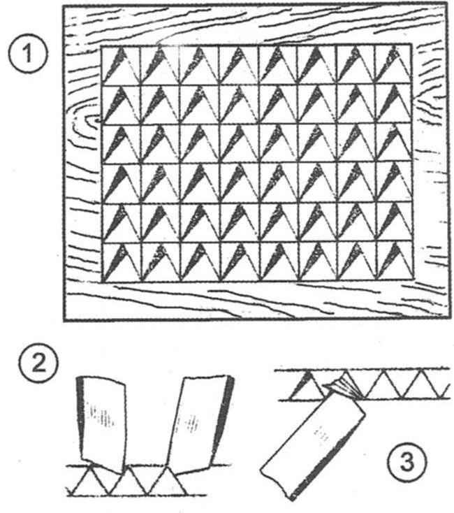 Thread of the pattern from the corners
