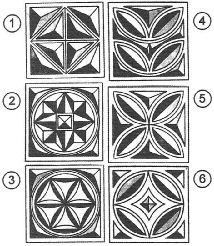 Треугольник как элемент геометрической резьбы в орнаментальных композициях