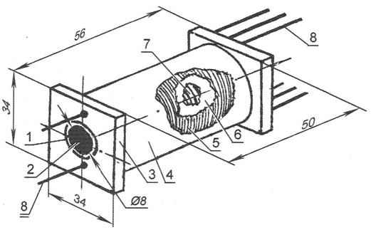 Рис. 2. Конструкционные особенности самодельного трансформатора