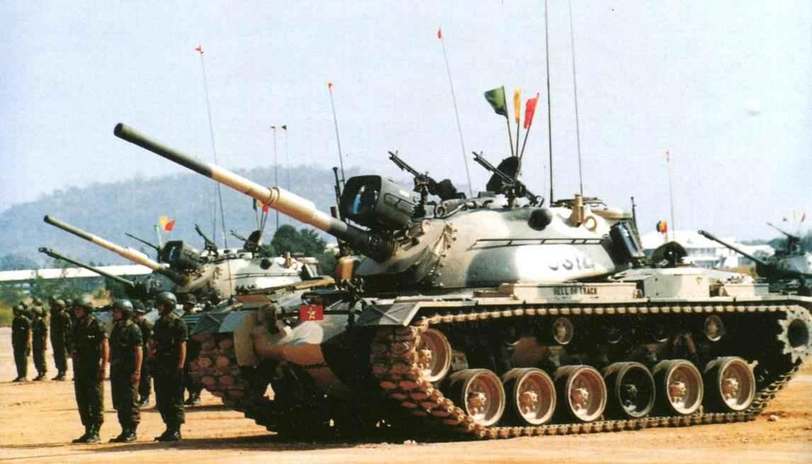 Средние танки М48А5 армии Таиланда