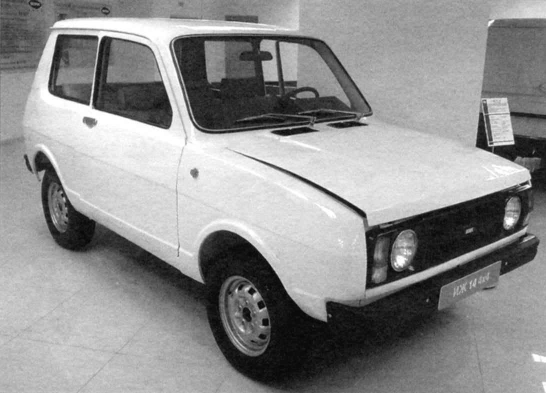 Experimental four-wheel drive car IZH-14