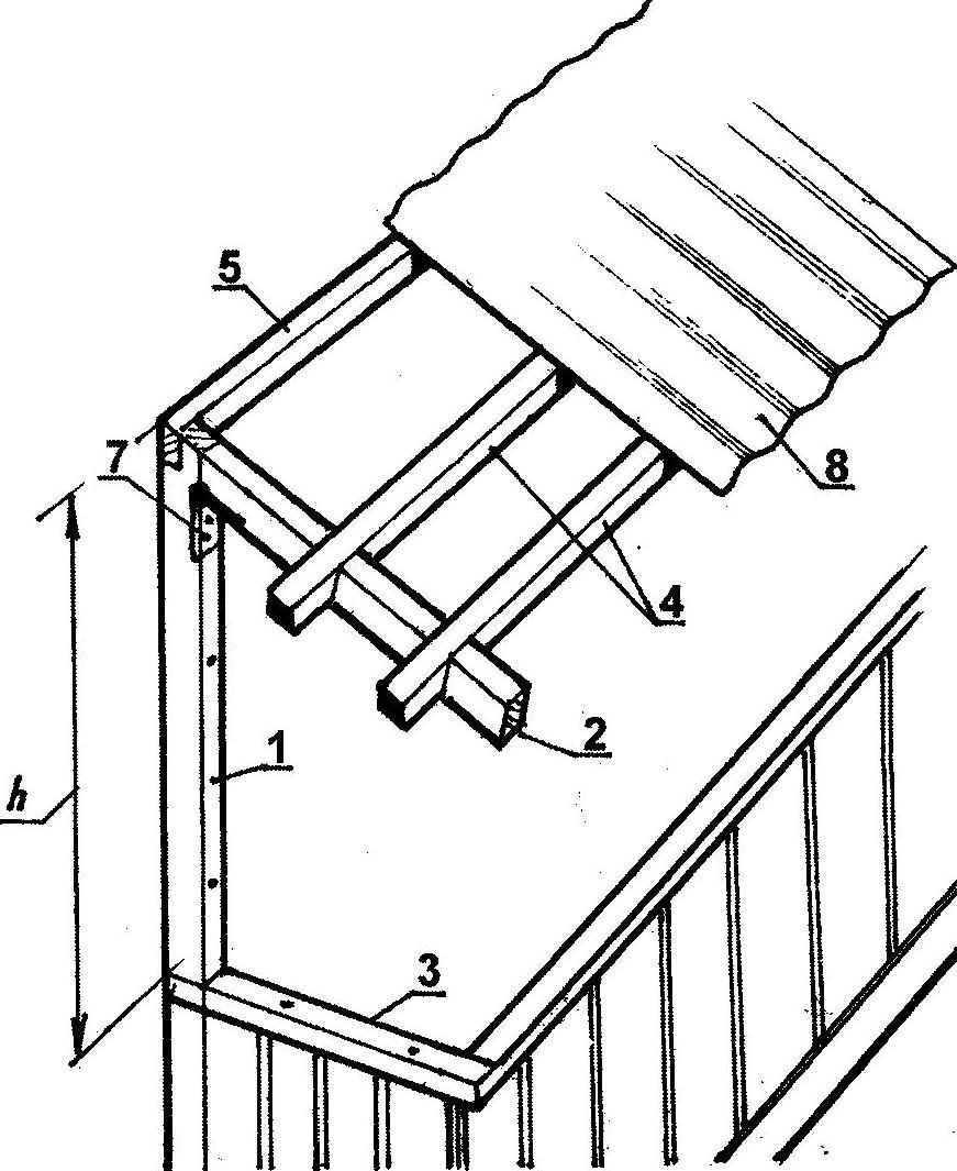 Fig. 3. The roof frame for balcony