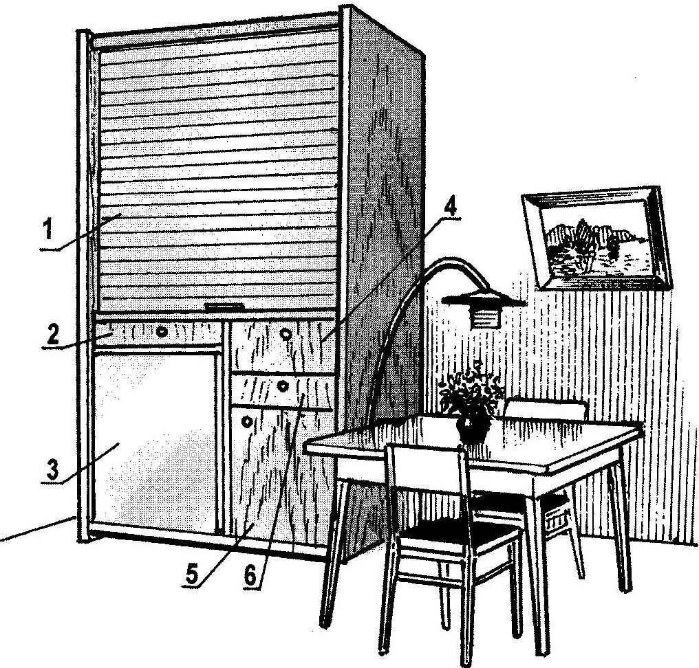 Рис. 1. Мини-кухня в положении «шкаф»