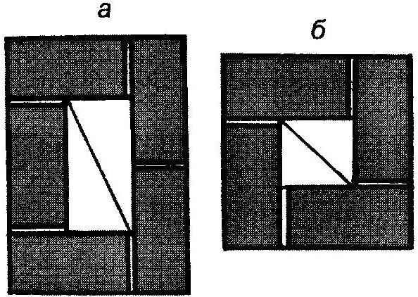 Рис. 4. Сечение дымоходов