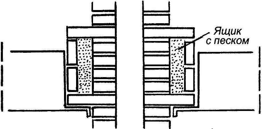 Рис. 5. Теплоизолирующее утолщение в стенке дымовой трубы