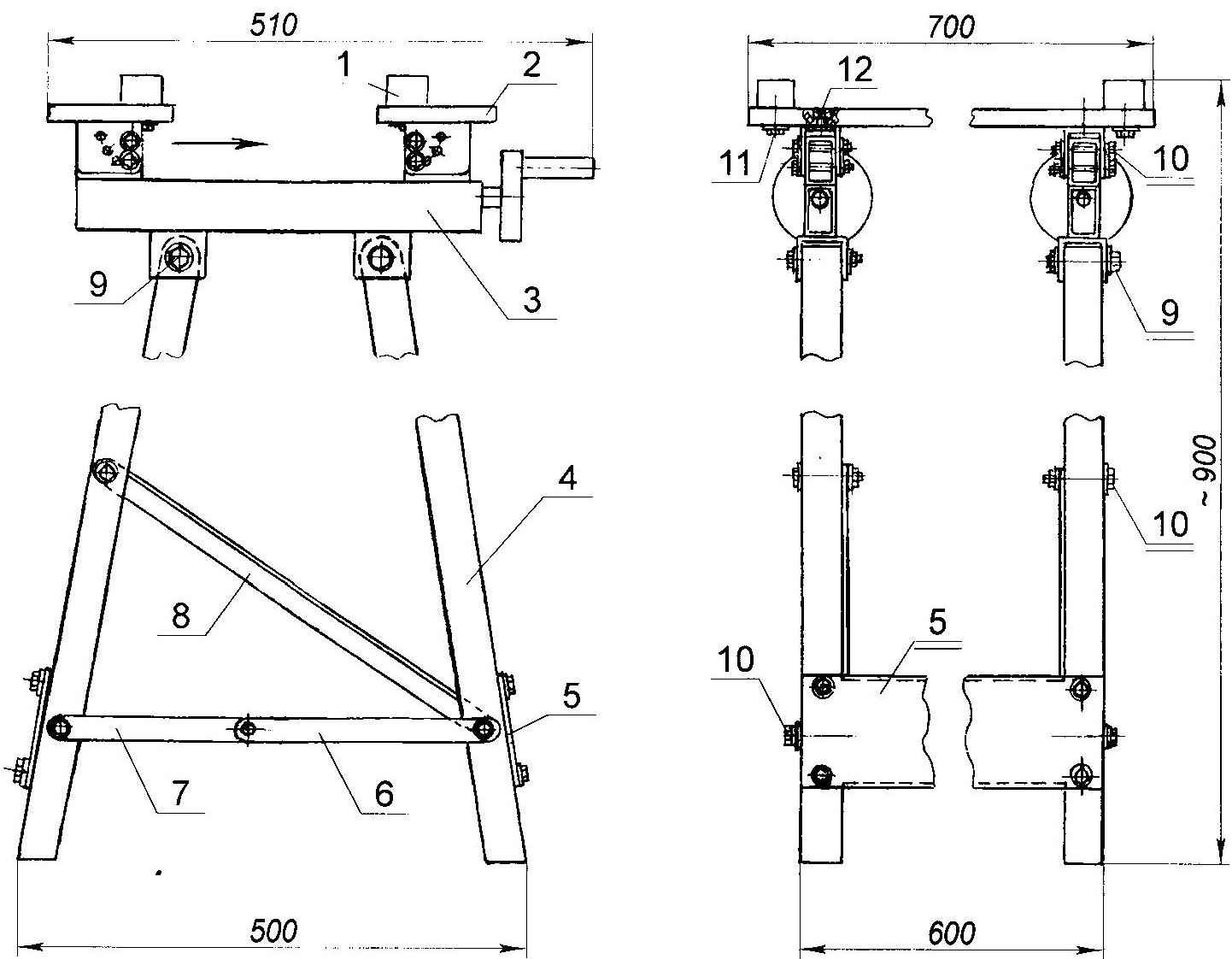 Fig. 1. Folding workbench