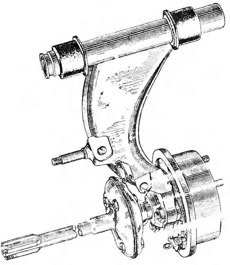 Arm rear suspension.