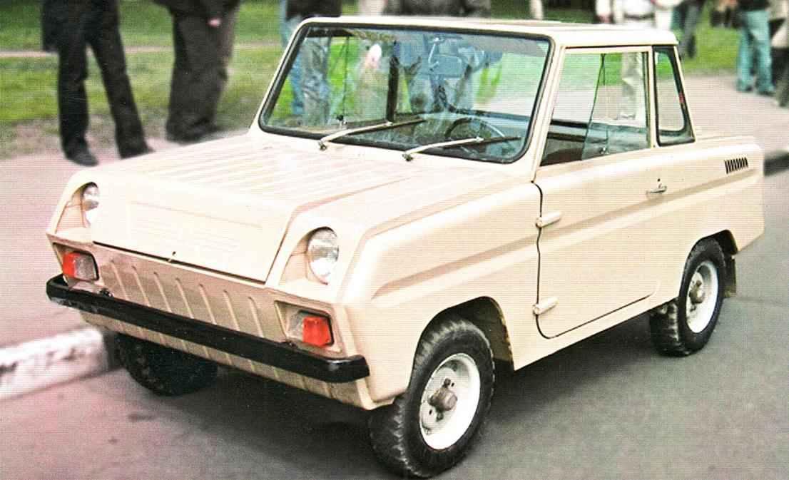 Мотоколяска с металлическим кузовом СЗД (1970 г.)
