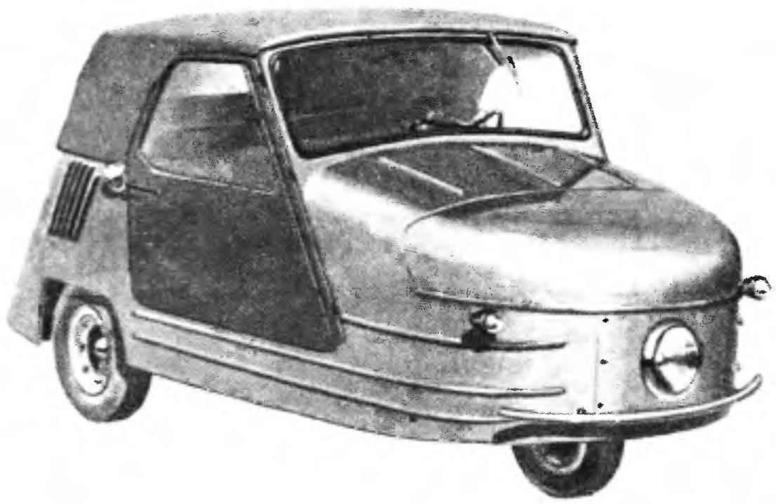 Первая закрытая мотоколяска-трицикл С1Л образца 1951 года.