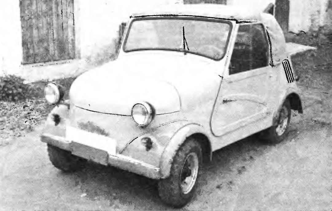 Четырёхколёсная мотоколяска СЗА выпуска 1957 года.