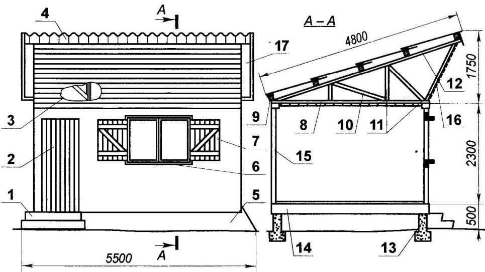 Рис. 1. Временный дачный дом