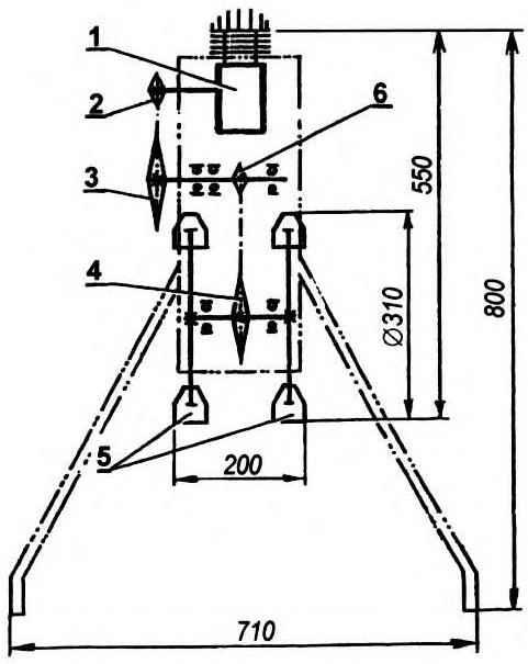 Кинематическая схема мотокультиватора