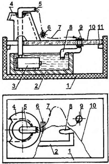 Схема комнатного фонтанчика