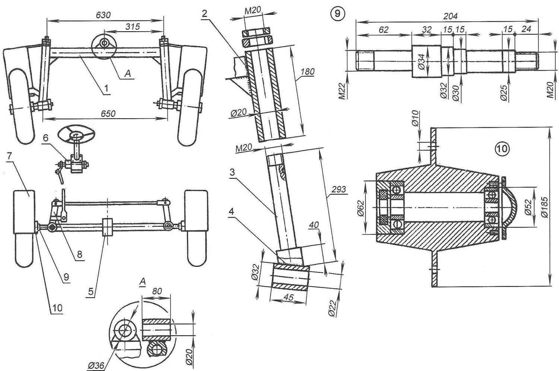 Рис. 3. Схема рулевого управления