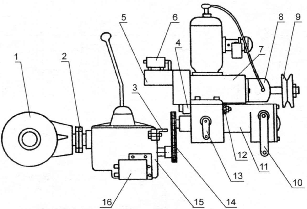 Рис. 4. Схема соединения силовых агрегатов