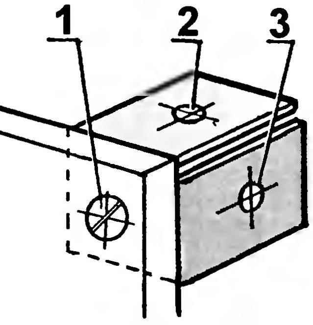 Рис. 5. Соединение шиферных деталей ступеньки