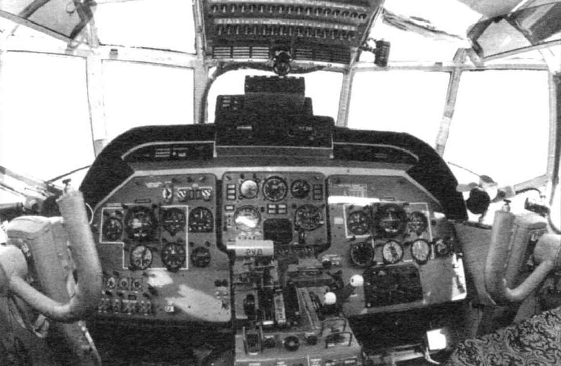 A fragment of the cockpit of the Antonov An-ZT