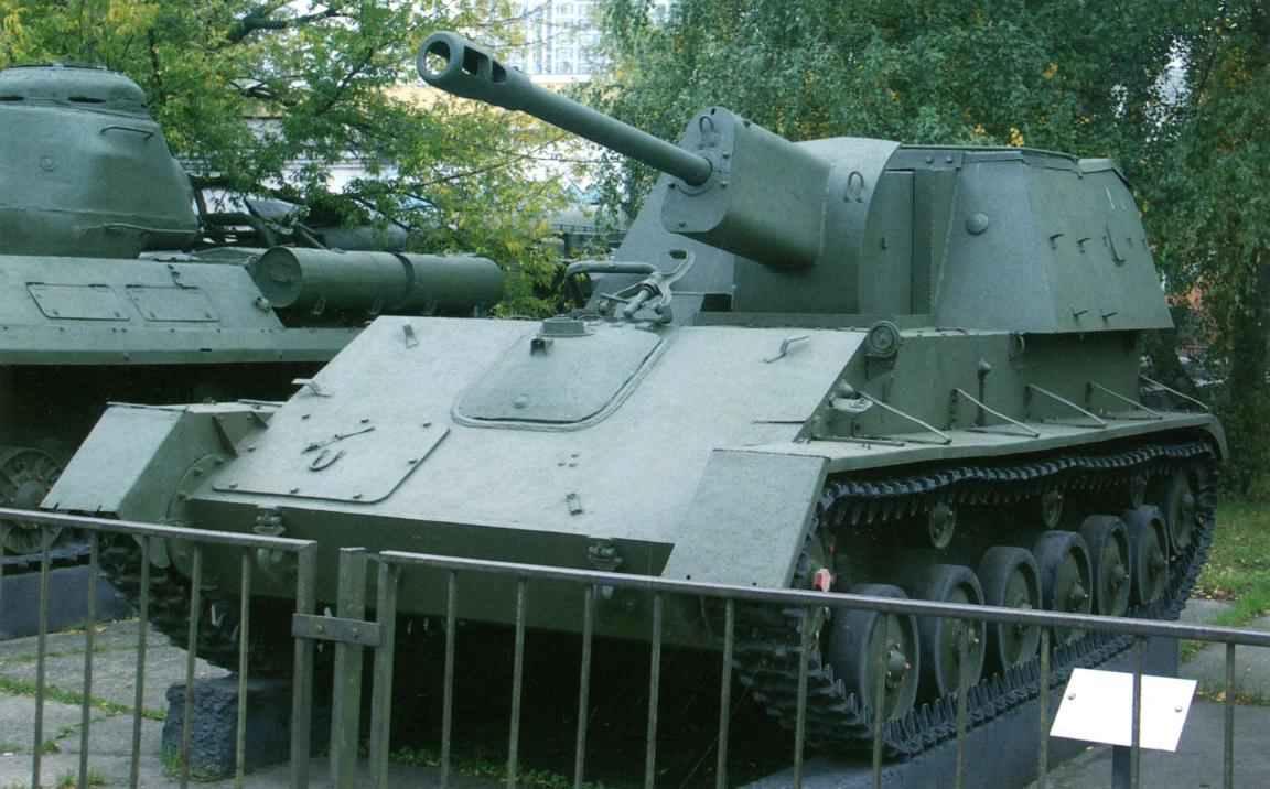 Самоходная установка СУ-76М в экспозиции Центрального музея вооружённых сил в Москве