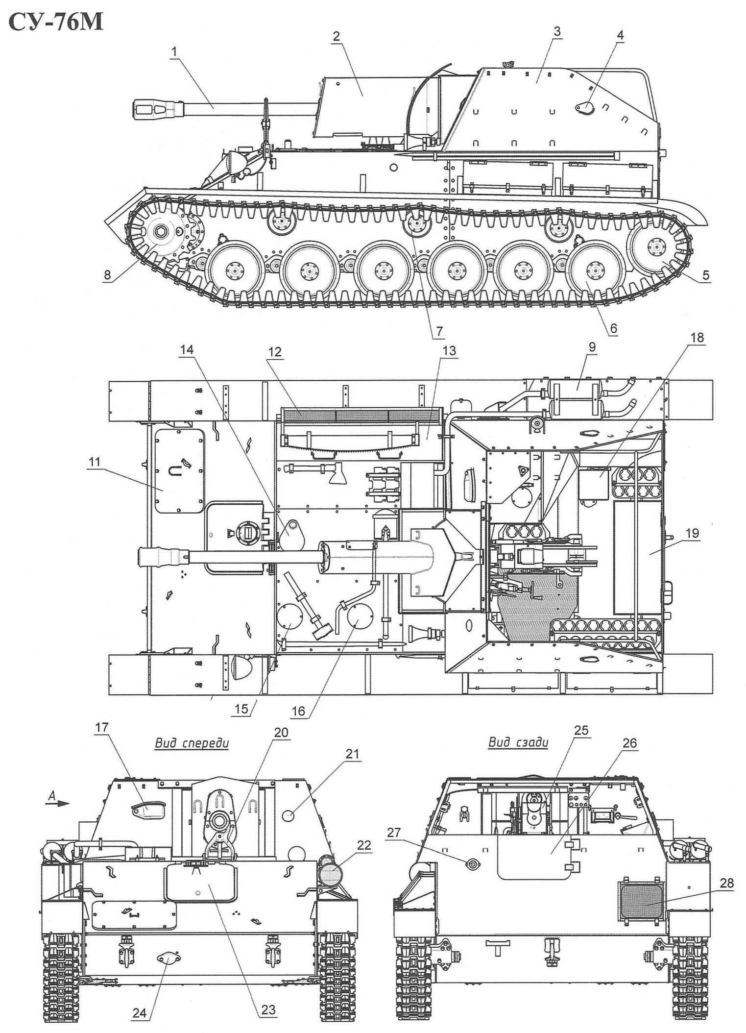 Самоходная установка СУ-76М