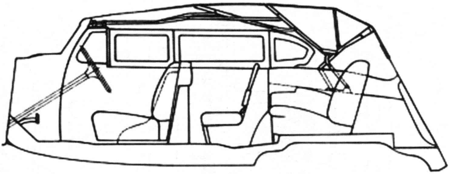 Складывающийся тент автомобиля ЗИС-102