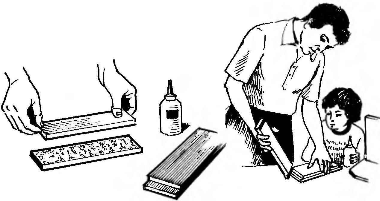 Соединение стойки со стяжкой с помощью клея