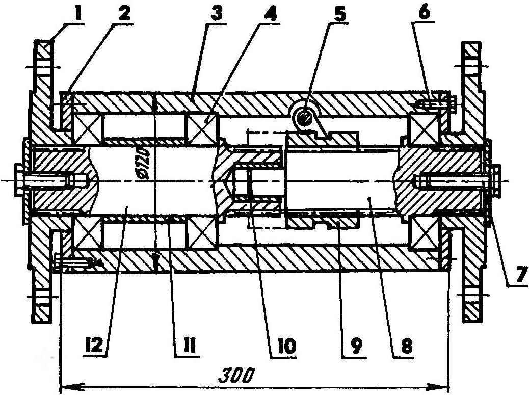 Механизм включення/выключення привода переднего моста