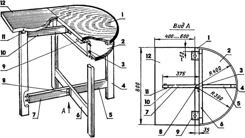 Раздвижной стол своими руками чертеж