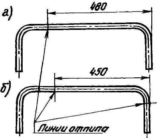 Раскрой трубчатых дуг раскладушки