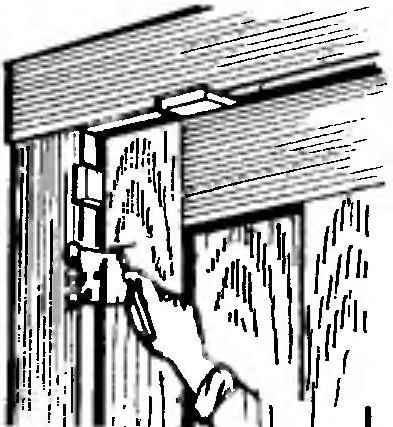 Рис. 8. Нанесение рисок под петлю