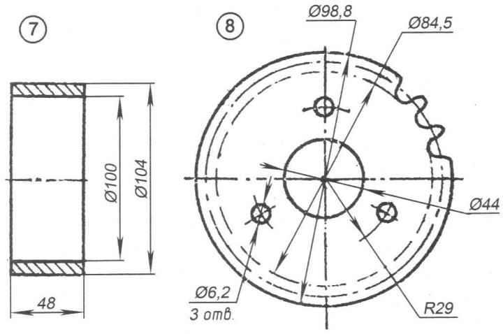 Детали заднего колеса