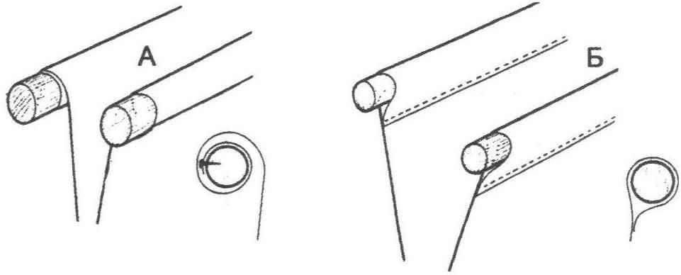 Варианты крепления верхней части кармана на кронштейнах