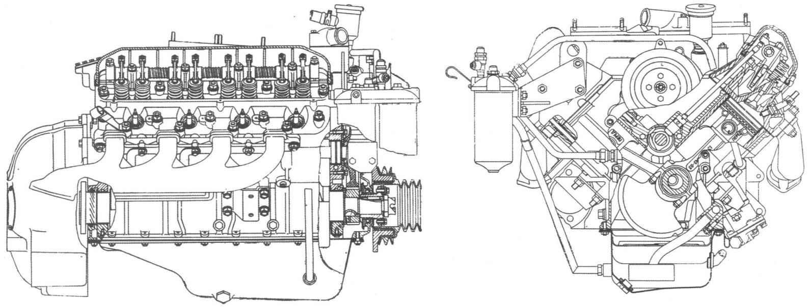 Восьмицилиндровый V-образный двигатель ЗМЗ-14 (ГАЗ-14)