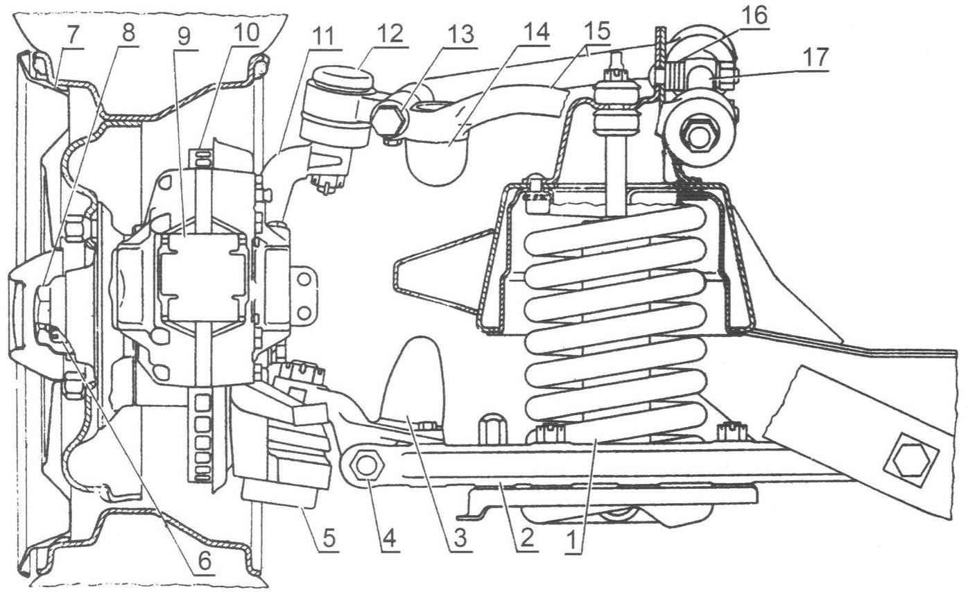 Передняя подвеска ГАЗ-14