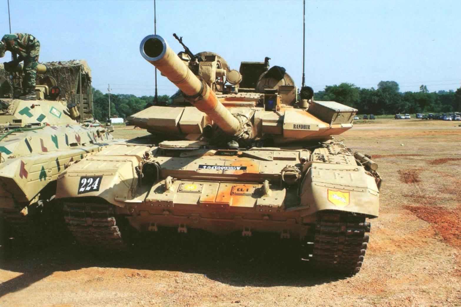 Основной боевой танк Т-90С «Бишма» индийской армии