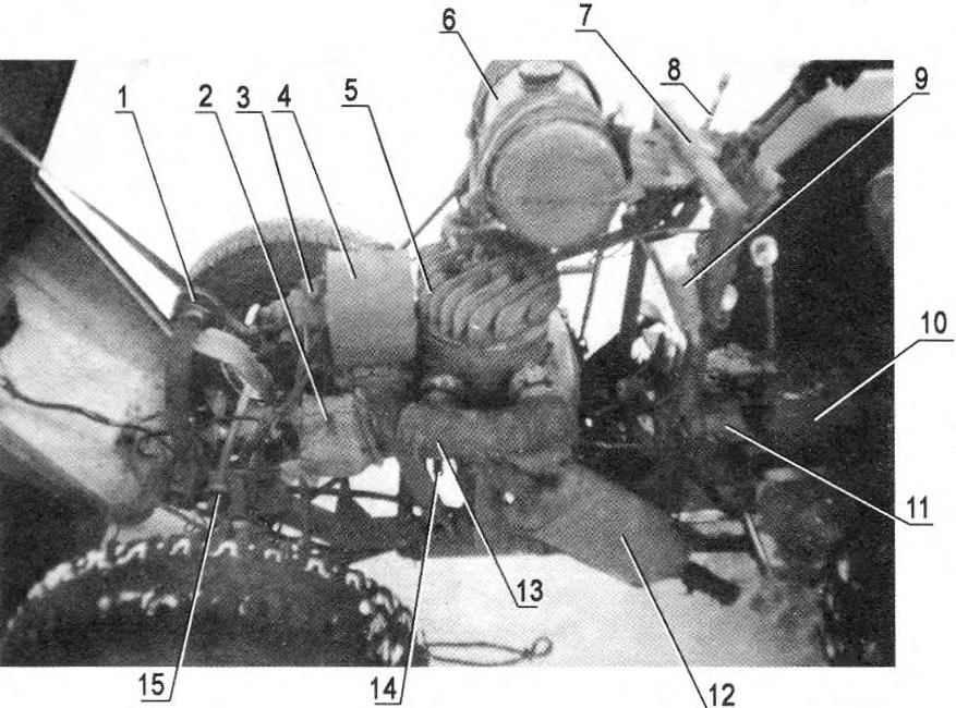 Компоновка агрегатов и узлов под капотом