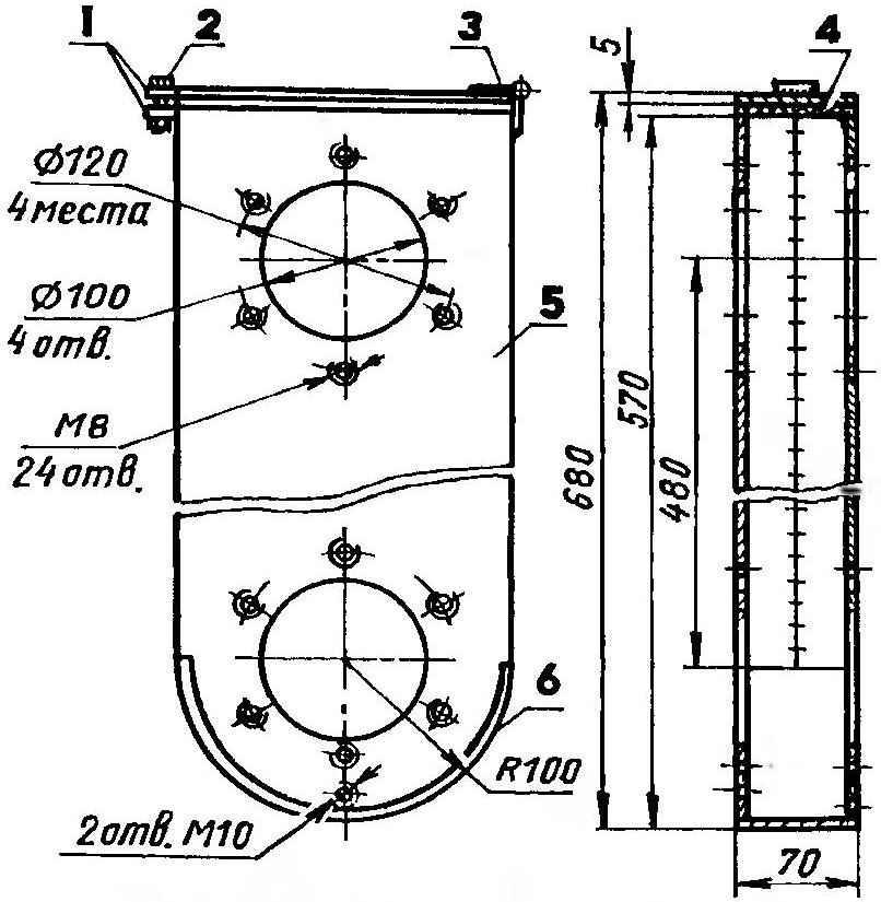 Корпус второй ступени цепного редуктора