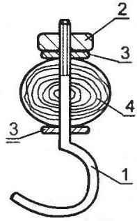 Рис. 4. Крючок для подвески бака (кастрюли)