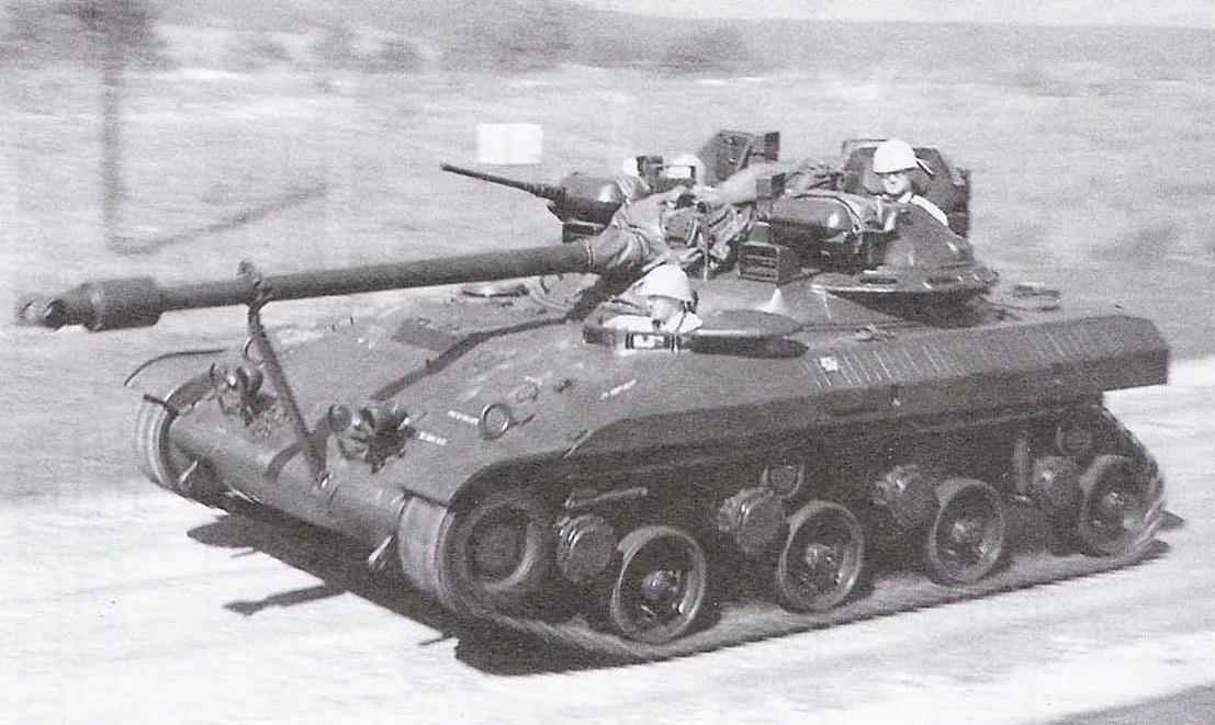 Tank T92 on the test