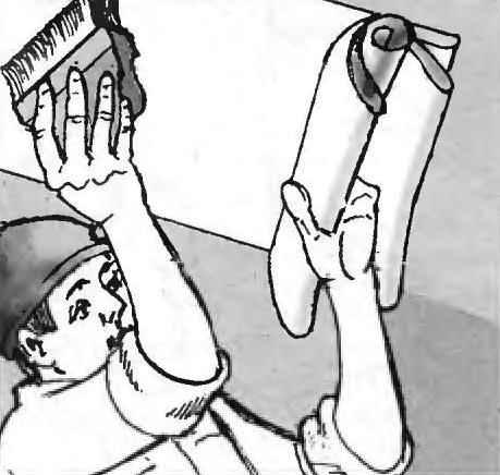 Рис. 11. Прижимание полотна ведётся от середины к краям