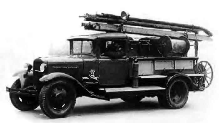 Fire truck based on the GAZ-AA