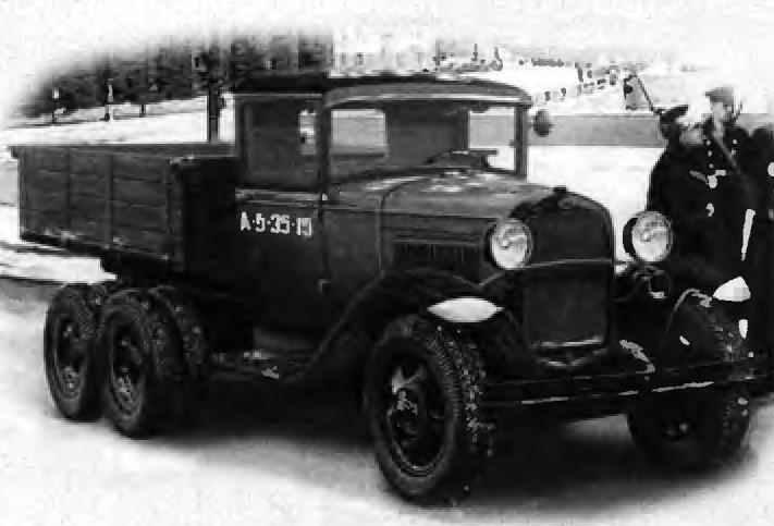 Three-axis all terrain vehicle GAZ-AAA