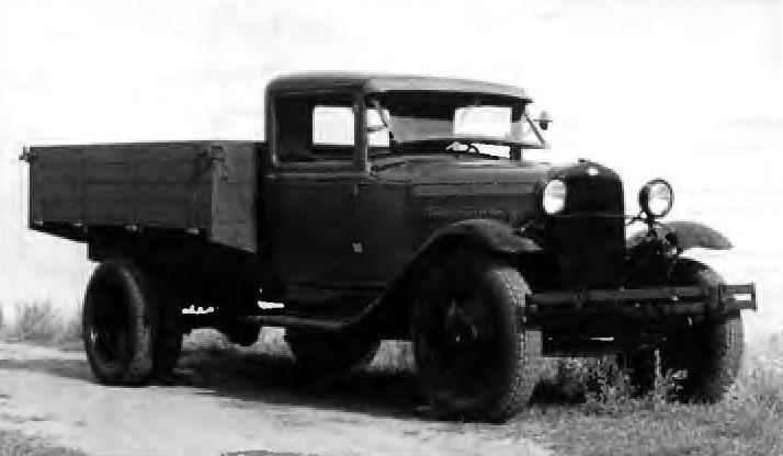 Polutoratonny truck GAZ-AA metal cab