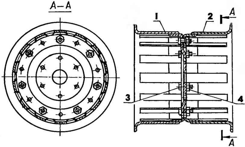 Широкопрофильное колесо для пневматика в сборе