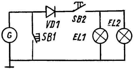 Схема электрооборудования миии-байка